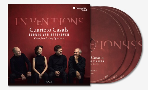 Cuarteto Casals - Inventions: Ludwig van Beethoven - Complete String Quartets, Vol.1 (3CDs, 2018)