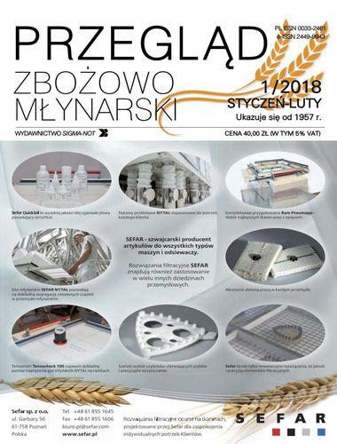 Przegląd zbożowo młynarski - 1 / 2018