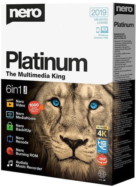 Nero Platinum 2019 Suite 20.0.07200 Multilingual